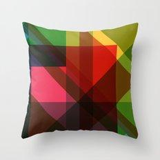 Rainbow Facets Throw Pillow