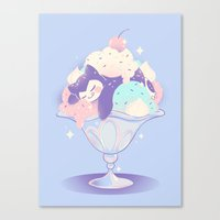 snorlax Canvas Prints featuring Sweet Tooth Sundae by Miski