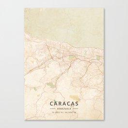 Caracas, Venezuela - Vintage Map Leinwanddruck