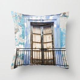 Facade - Taormina - Sicily Throw Pillow