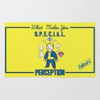 fallout Area & Throw Rugs featuring PerceptionS.P.E.C.I.A.L. Fallout 4 by sgrunfo
