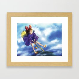 kiki's delivery service - fan art Framed Art Print