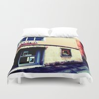 cinema Duvet Covers featuring Cinema Roma by Red Bicycle - Amber Elen-Forbat