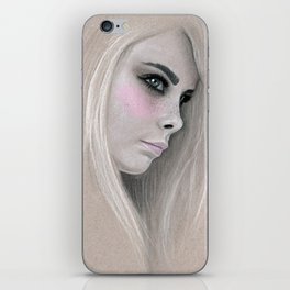 Cara Fashion Illustration Portrait iPhone Skin