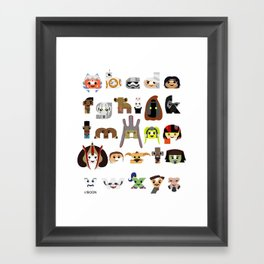 ABC3PO Episode II Framed Art Print