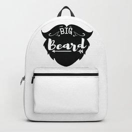 Big Beard - Funny hand drawn quotes illustration. Funny humor. Life sayings. Backpack