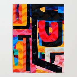 Abstract Street Art Pattern Graffiti Gessetto Poster