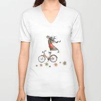 olivia joy V-neck T-shirts featuring Joy by Catru