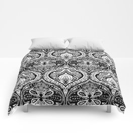 Simple Ogee Black & White Comforters