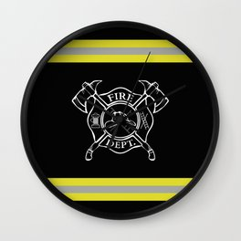 Firefighter - Turnout Gear - Maltese Cross Wall Clock