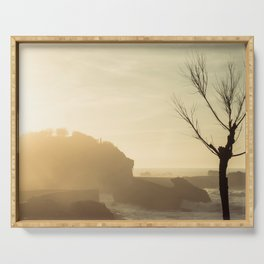 Sunset in Biarritz Serving Tray