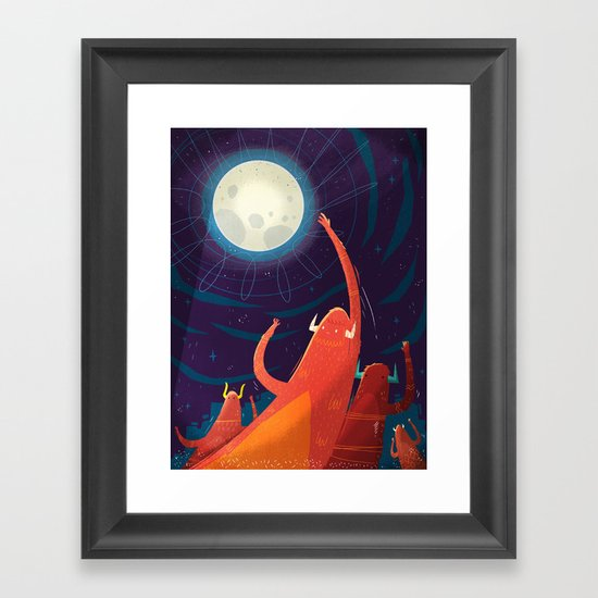 :::Touch the Moon::: Framed Art Print