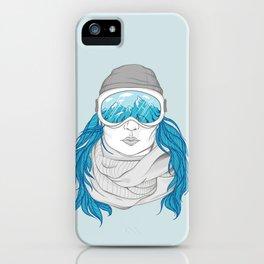 snowboarder girl iPhone Case