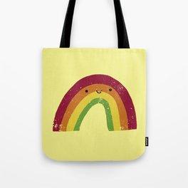 Happy Little Rainbow (retro) Tote Bag
