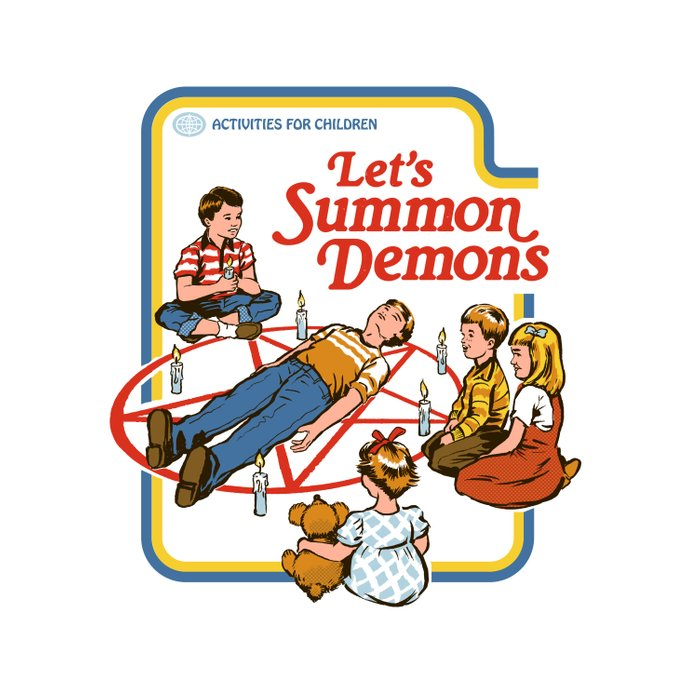LET'S SUMMON DEMONS Duvet Cover