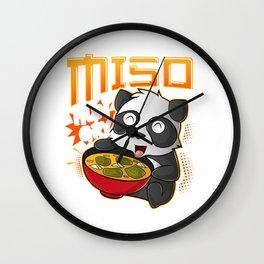 Miso Hungry Kawaii Panda Cute Anime Noodles Ramen Wall Clock