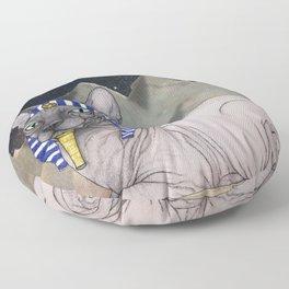 Sphynx Cat (space bg) Floor Pillow