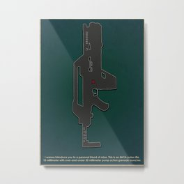 "Minimalist Iconic Weapon ""A personal friend"" Metal Print"