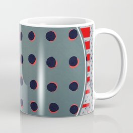 Green floats on yellow - red graphic Coffee Mug