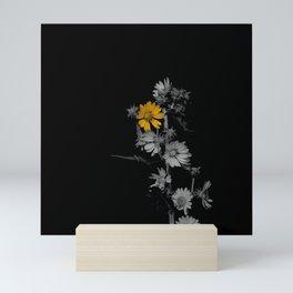 Partial Color Flower Mini Art Print