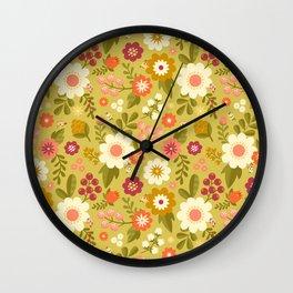 Magical Flower Garden Wall Clock
