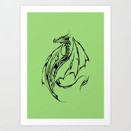 Dragon Tribal Art Print