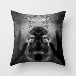 By the light of MY cauldron Throw Pillow