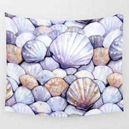 Sea Shells Amethyst Wall Tapestry