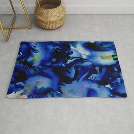A Splash of Blue Rug
