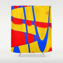 A arte das formas e cores!! Shower Curtain