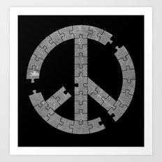 Puzzle Peace Art Print