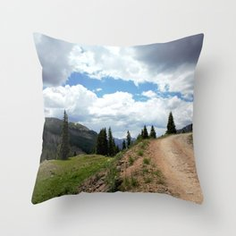 The Road of Life: Venture to Learn What's Around the Next Bend, and Prepare for Stormy Skies Throw Pillow