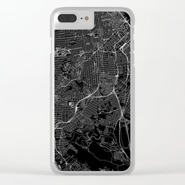 San Francisco Black Map Clear iPhone Case