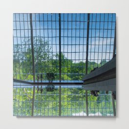 Starry Night   Waters Reflection Modern Architecture Fine Art Photography Metal Print