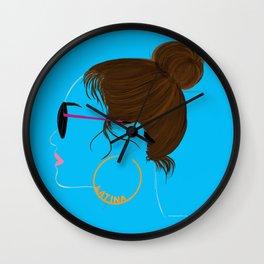 national latina day Wall Clock
