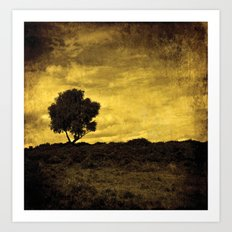 Yellow Tree Art Print