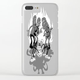 flipping kidding me Clear iPhone Case