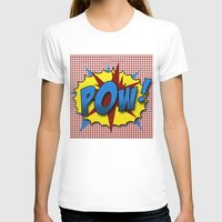 lichtenstein T-shirts featuring Pop Art Pow in comic Lichtenstein style by Suzanne Barber