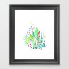 Plants In My Garden Framed Art Print