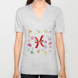 Pisces Floating Zodiac Unisex V-Neck