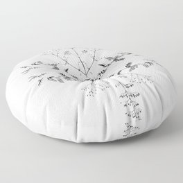 Flowers of Autumn Floor Pillow