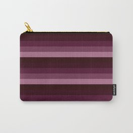 burgundy stripes Carry-All Pouch