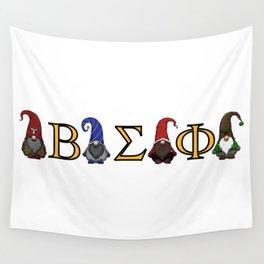 ΒΣΦ Christmas Gnomes on White (BSP) Wall Tapestry