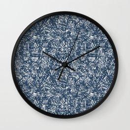 crisscross-blue Wall Clock