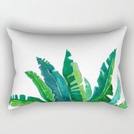 simple green Rectangular Pillow