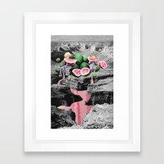 Watermelon Watermarks Framed Art Print