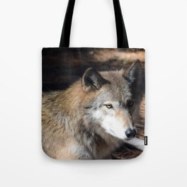 The Eyes of a Wolf Tote Bag