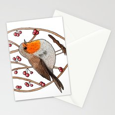 Christmas winter robin Stationery Cards