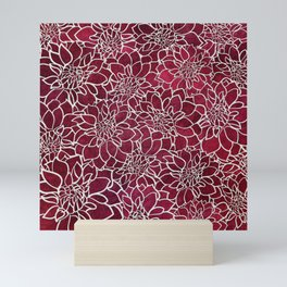 Dahlia Flower Pattern 10 Mini Art Print