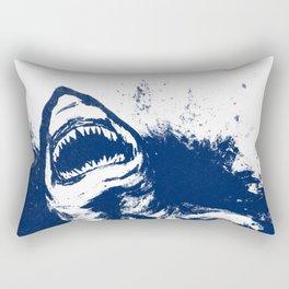 Patrick Swanson in Navy Rectangular Pillow